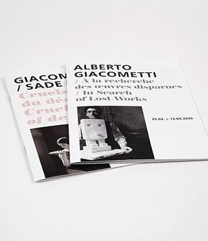 giacometti-sade / cruels objets du désir<br>alberto giacometti / à la recherche des œuvres disparues